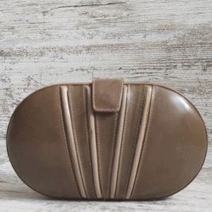 ⚄Vintage Saks Fifth Ave Italian Taupe Leather Bag